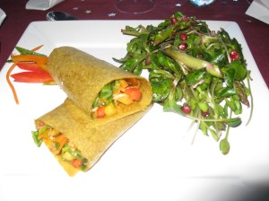 Spring Rolls and Christmas Salad